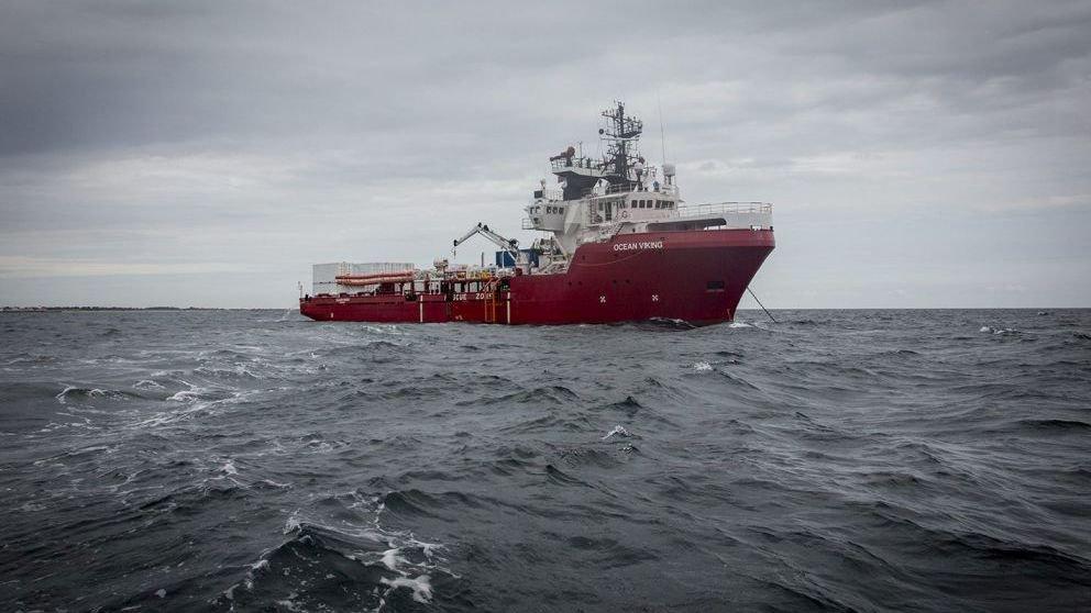 """""""Ocean Viking"""", le nouveau bateau de SOS Méditerranée."""