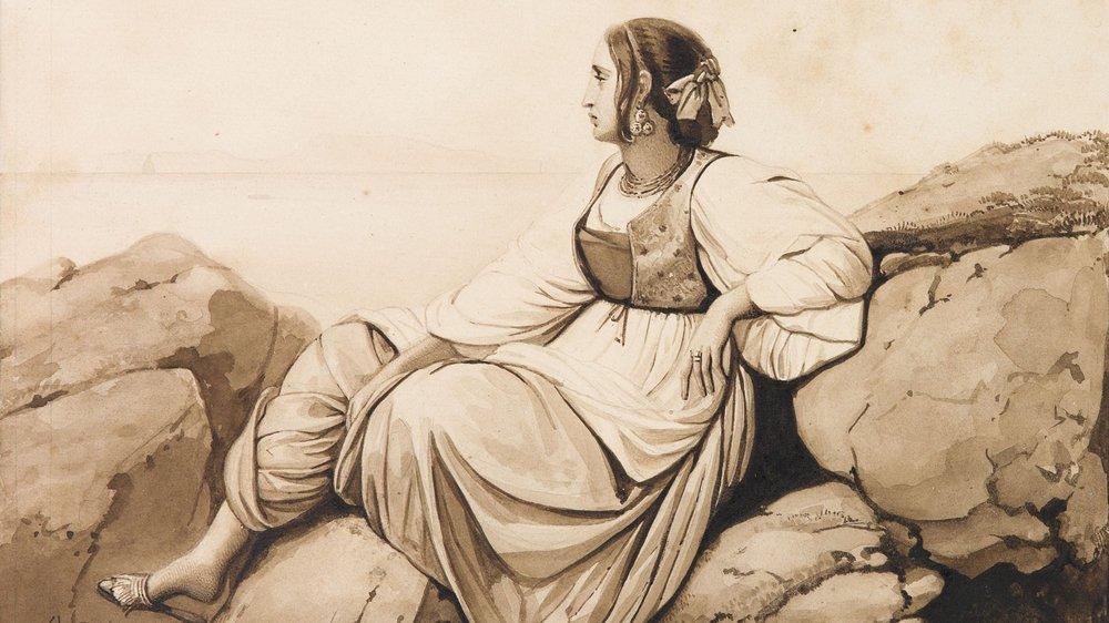 """Femme en costume"", de Léopold Robert."