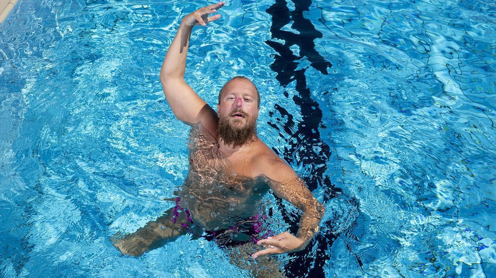 Jean-Philippe Jel est le seul nageur artistique de Suisse. Il rejoindra le Red-Fish à la fin de l'été.
