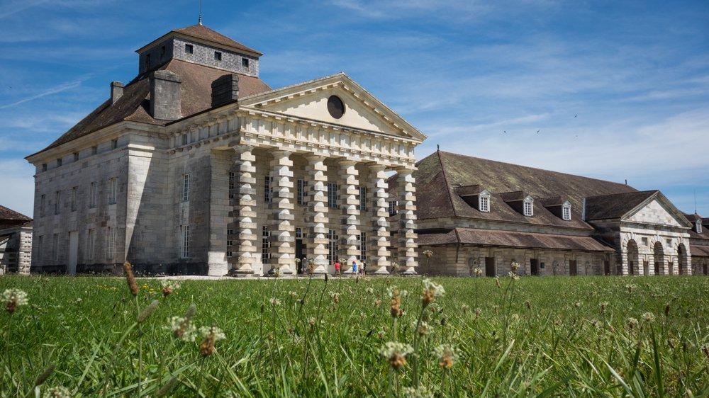 La saline royale d'Arc-et-Senans, construite à la fin du 18e siècle et inscrite au Patrimoine mondial de l'Unesco.