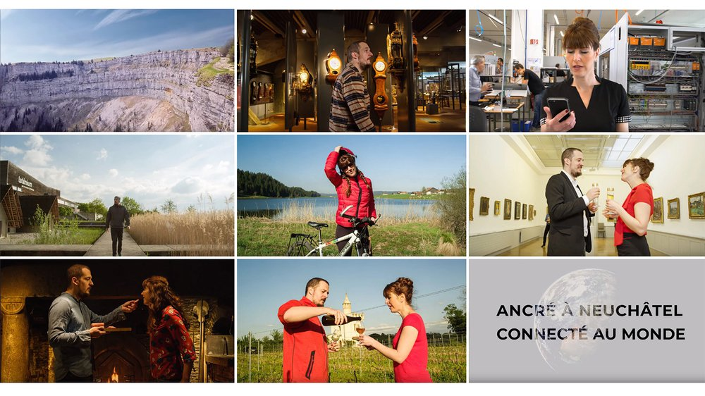 Des images de la vidéo promotionnelle de l'Etat de Neuchâtel qui sera diffusée à la Fête des vignerons.