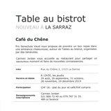 "Table au bistrot ""Café du Chêne"""