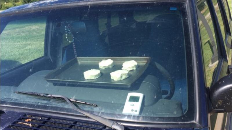 Cette expérience avait pour but de démontrer les dangers d'une voiture en plein soleil.