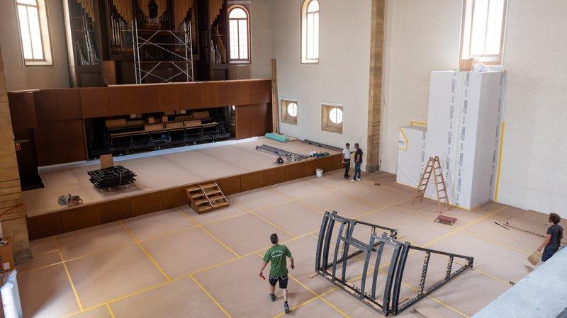 Le temple du Bas, à Neuchâtel, transformé «sans geste ostentatoire»
