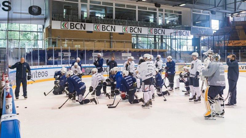 Le nouveau coach du HC La Chaux-de-Fonds a donné ses premières consignes à ses joueurs.