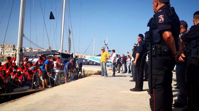 L'Italie ne veut plus prendre en charge les migrants qui débarquent en Sicile. Elle a convaincu 5 autres pays de l'UE de s'en charger (illustration).