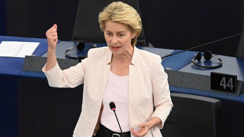 """Candidate à la présidence de la Commission européenne, Ursula Von der Leyen promet un """"green deal"""" européen."""