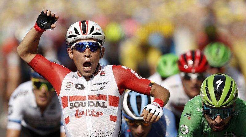 Caleb Ewan avait aussi gagné deux étapes sur le Giro. Il fait désormais partie de l'élite du sprint.