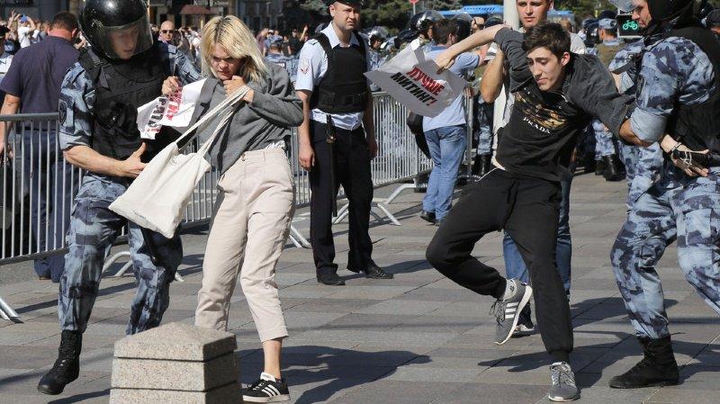 Les forces de l'ordre n'ont laissé aucune chance aux protestataires de participer à la manifestation.