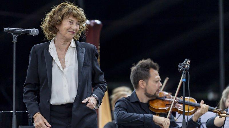 Jane Birkin et l'Ensemble symphonique Neuchâtel se sont produits sur la Grande Scène.