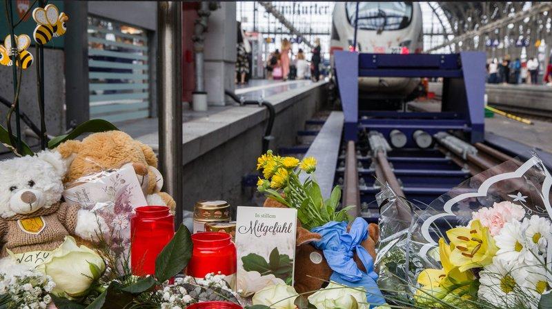 Allemagne: l'homme qui a poussé un enfant sous un train à Francfort était recherché en Suisse