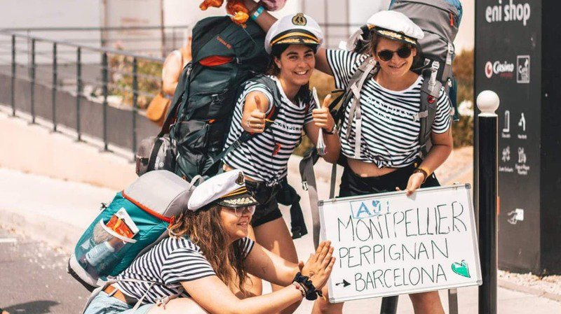 Marina Jacopin, Alexia Zbinden, et Sarah Dolder (de gauche à droite) durant le «Barcelona Express».