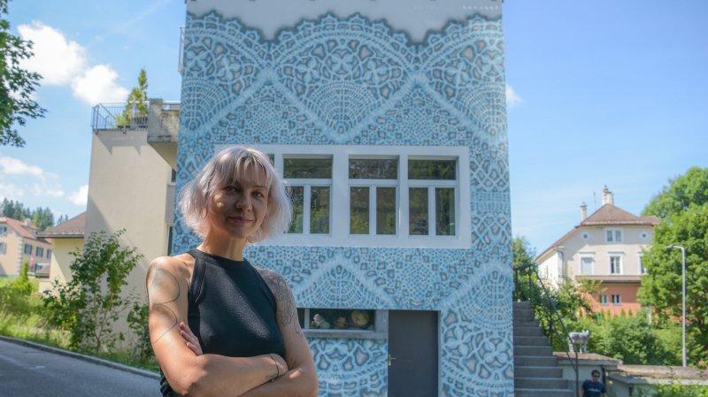 NeSpoon dépoussière la dentelle, façon street art, au Locle