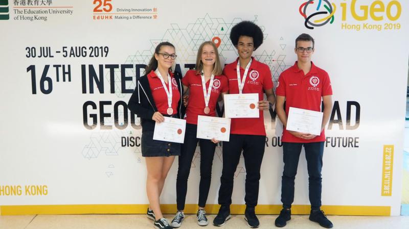 Olympiades de géographie: la Suisse décroche 3 fois le bronze à Hong Kong