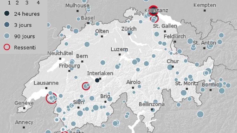 Lac de Constance: deuxième séisme en deux jours