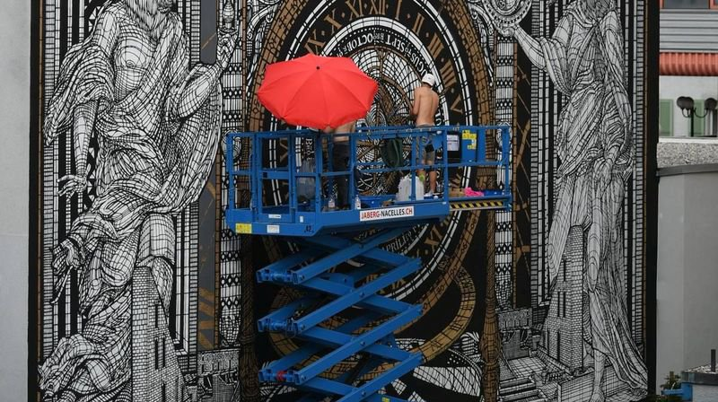 Urban Art: œuvre magistrale et unique au Locle