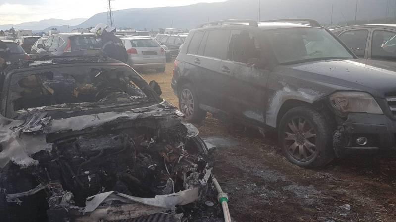 Incendie au parking du camping de Paléo: 16 véhicules touchés
