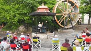 Neuchâtel: le kiosque à musique du Gor du Vauseyon renaît