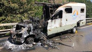 Uri: un mobile home en feu provoque d'importants bouchons sur l'autoroute du Gothard