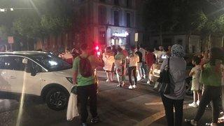 Ils fêtent la victoire de l'Algérie à Neuchâtel