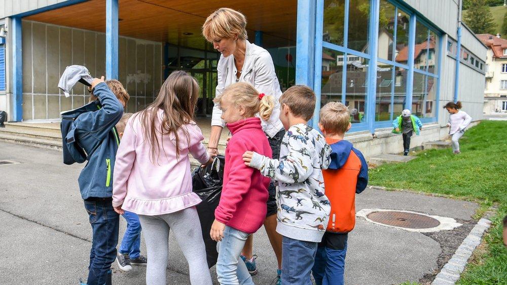 En 2018, les Poutzdays ont rassemblés 1500 élèves. Sur la photo, le collège des Girardet, au Locle.