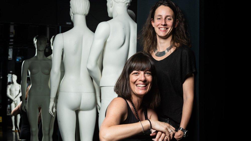 Nathalie Schnegg (assise) et Ophée del Coso prennent la pause sans se prendre la tête.