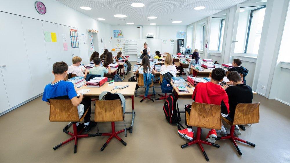 Les élèves du cercle des Terreaux, à Neuchâtel, ont investi leur nouveau collège.