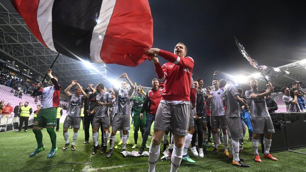 Le dernier déplacement de Xamax à Genève, le 23 avril 2018, avait été festif avec les célébrations de la promotion en Super League.
