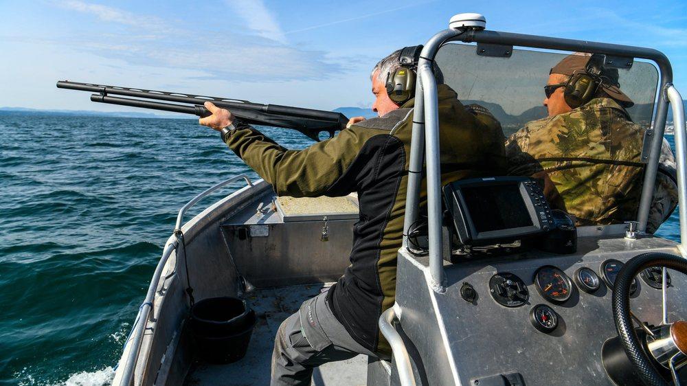 Les gardes-faune (ici Sébastien Bardet) pourront tirer le cormoran jusqu'au 29 février 2020 au plus tard.