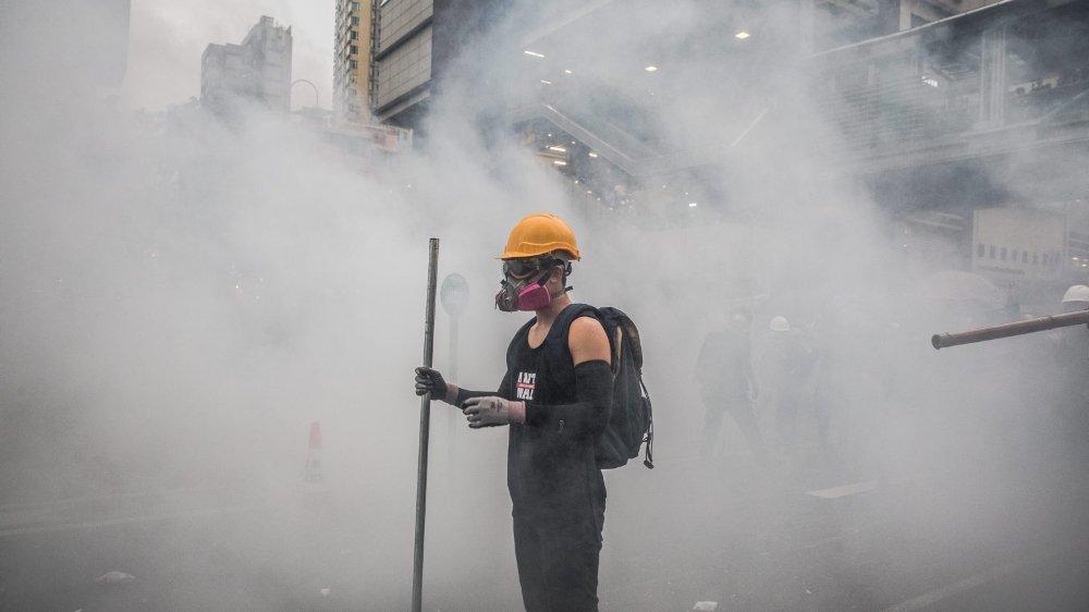 Un manifestant Hongkongais.