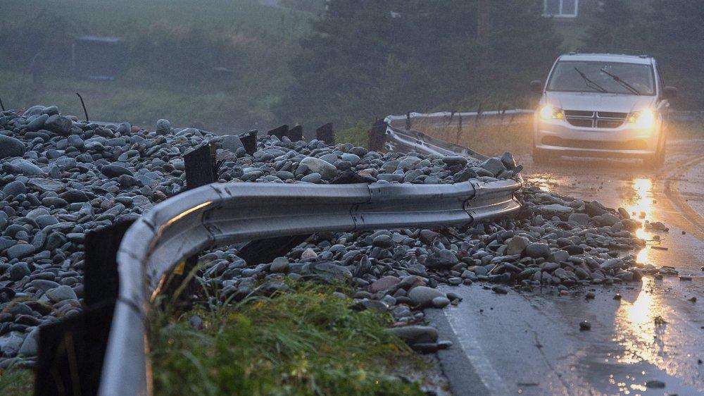 Le Nouveau-Brunswick, tout à l'est du Canada, a été frappé, hier, par des pluies torrentielles.