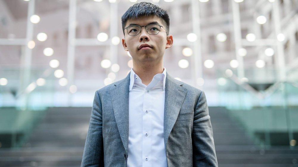 Joshua Wong, 22 ans, cherche des soutiens en Europe.