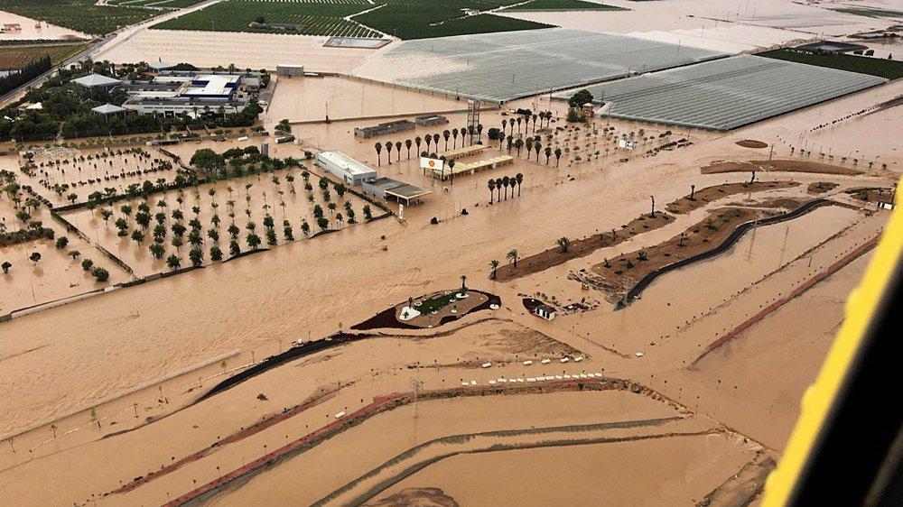 Records de pluie battus, ici à Los Alcazares, près de Murcie.