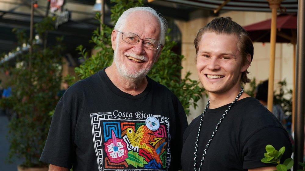 Jacques Dubochet (à gauche) et Yannic Bucher se sont prêtés au jeu de l'interview croisée.