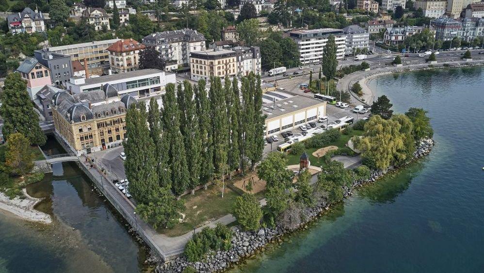 La Chambre neuchâteloise du commerce et de l'industrie (CNCI) imagine un centre de congrès sur le site de l'actuel hangar des trams, rue de l'Evole, à Neuchâtel.
