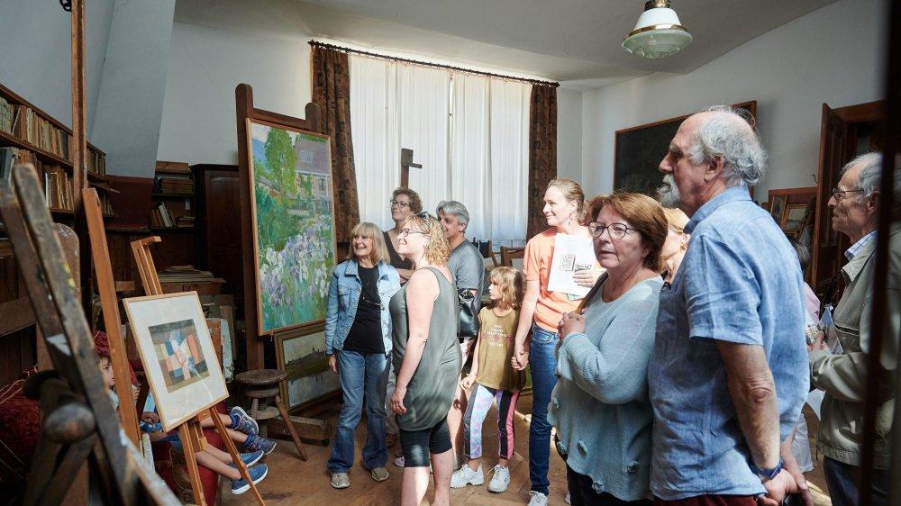 L'atelier du peintre Gustave Jeanneret, à Cressier, demeuré intact depuis le 19e siècle.