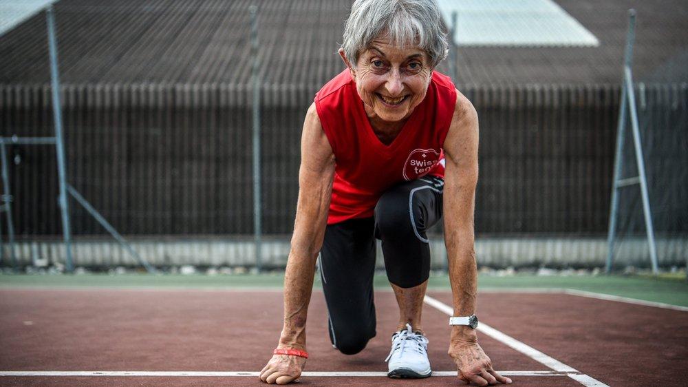 Gisèle Ceppi, transplantée, a toujours aimé le sport.