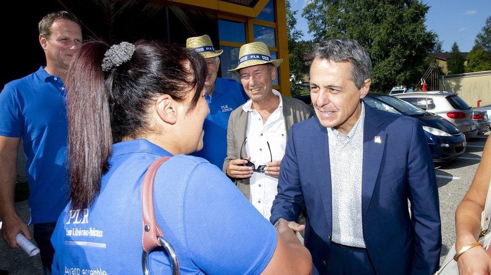 Ignazio Cassis a salué tous les candidats neuchâtelois.