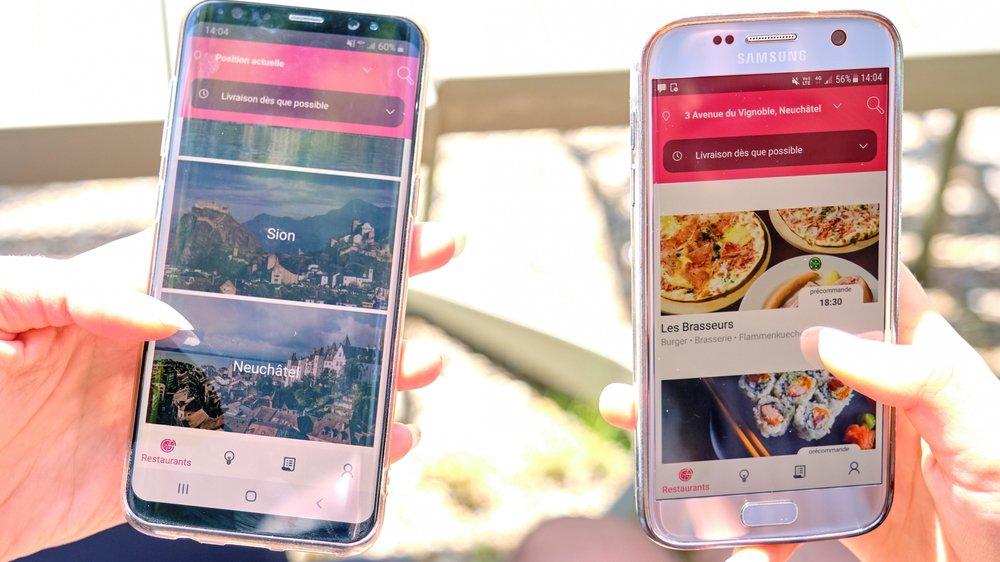 Depuis peu, l'application Smood répertorie des restaurants de Neuchâtel. D'autres enseignes pourraient rejoindre la liste prochainement.