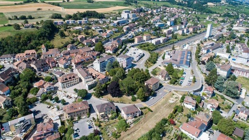Le centre du village de Saint-Aubin, dans la zone de la gare, concentre une partie des activités économiques de la commune de La Grande Béroche.