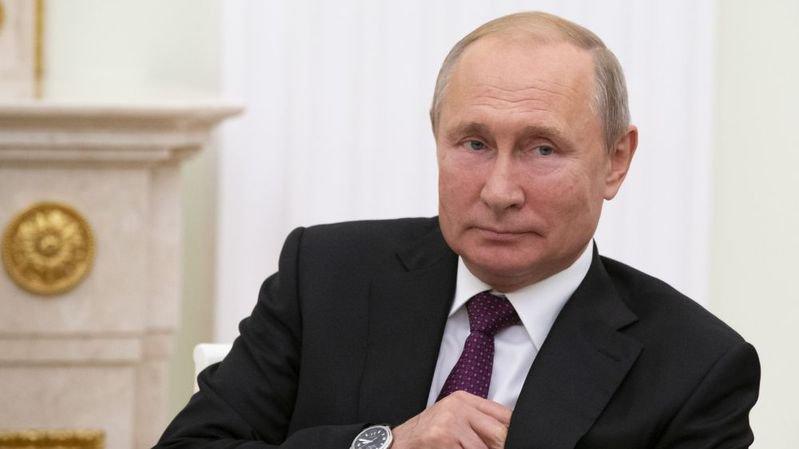Le président russe Vladimir Poutine au Kremlin.