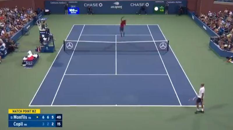 Gaël Monfils a fait le show pour sa balle de match au deuxième tour de l'US Open.