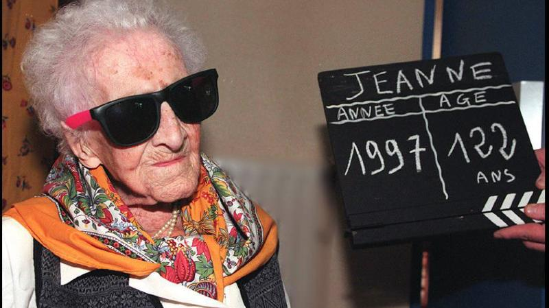 Jeanne Calment avait 122 ans lorsqu'elle est décédée en 1997.