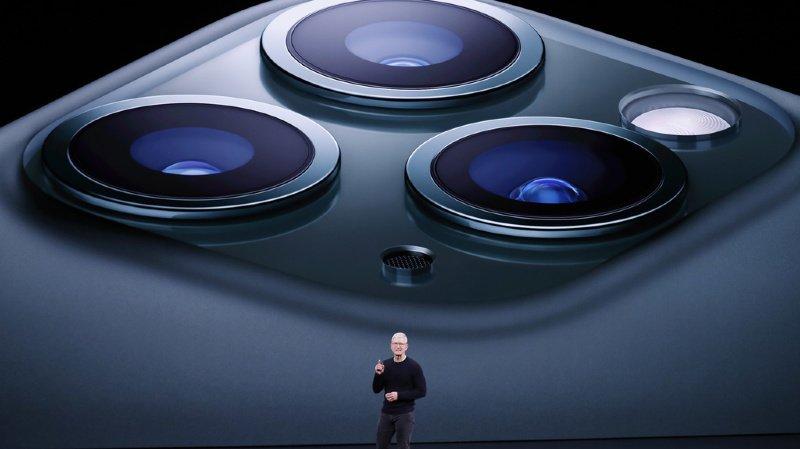 Tim Cook a présenté le nouvel iPhone 11 et sa version Pro depuis le siège d'Apple à Cupertino, en Californie.