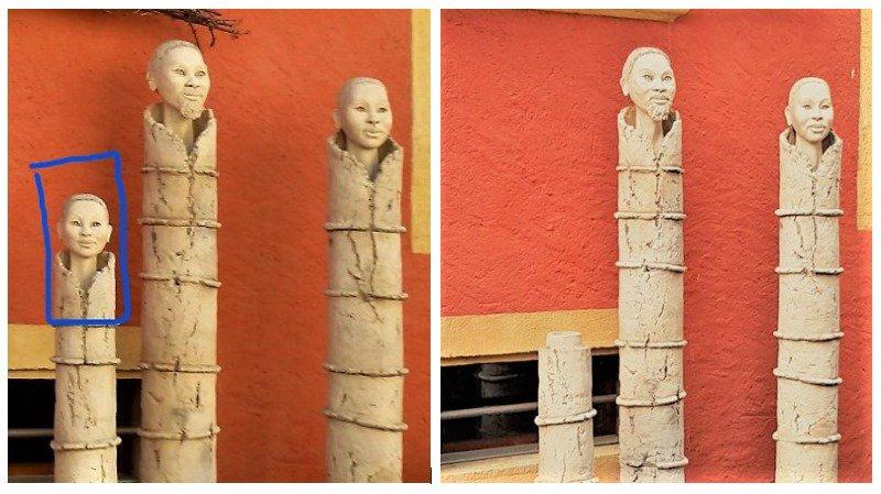 Statues du Domaine Christalain, réalisées par l'artiste Dominique Humblot.