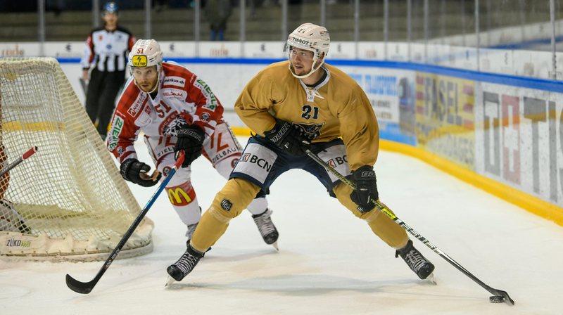 HCC - Winterthur.   Thomas Hofman (21) Zack Torquato  LA CHAUX-DE-FONDS 6/09/2019 Photo: Christian Galley