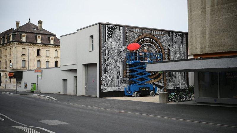 """Le déploiement du 1er parcours """"Street art de Suisse"""" au Locle fait partie des projets."""