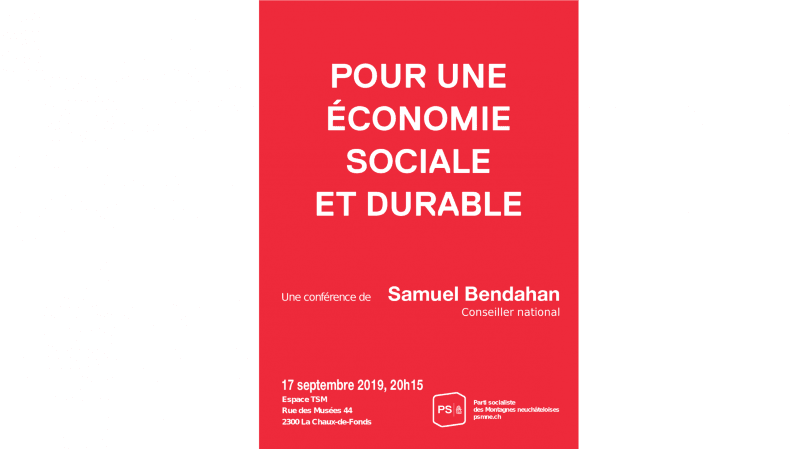 Pour une économie sociale et durable