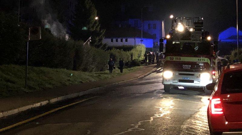 Incendie d'un grand cabanon en bois à La Chaux-de-Fonds