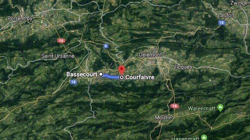 Le trafic ferroviaire et routier a été perturbé mercredi matin entre Bassecourt et Courfaivre.
